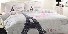 High Quality %100 Cottont Paris Eiffel Tower Queen Duvet Cover quilt Cover set