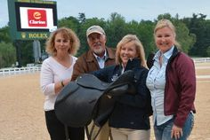 The Borne Saddle raffle winner was Jodi Koford, who is not pictured, Laura Corsentino accepted the saddle on her behalf. Thanks to Borne Saddlery for their support.