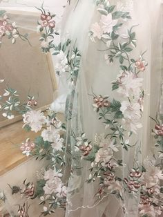 Excited to share the latest addition to my shop: Fresh Green champagne fine embroidery lace fabric for wedding gown bridal dress haute couture prom dress making Bridal Dresses, Wedding Gowns, Flower Girl Dresses, Prom Dresses, Couture Dresses, Wedding Ceremony, Lace Curtains, Lace Fabric, Embroidery Fabric