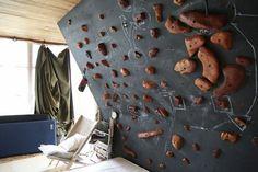 indoor-rock-climbing wall design ideas black rock climbing wall home sports activities