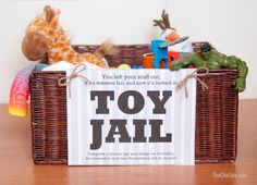 toy jail free printable with bail bond printables that includes chores that must be done to get a toy out of jail