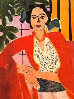 The Amber Necklace / Henri Matisse - 1937