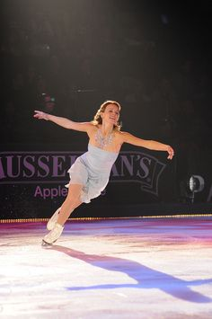 Katia Gordeeva showing off her natural grace at the Family Skating Tribute.