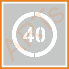 (2664x )#Šablóna - #Značka 40 km/h  #artsablony