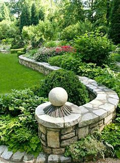 Garden Design 20 Enchanting Stone Walls Garden Ideas - Trendecora - Rose gardens and rose garden designs are typically quite stunning on their own, but if you are looking for a […] The Secret Garden, Walled Garden, Garden Landscape Design, Landscape Designs, Landscape Steps, House Landscape, Landscape Pictures, Backyard Landscaping, Landscaping Ideas