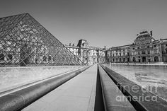 THE LOUVRE: Available as a fine art print, canvas, greeting card and more | Paris, France