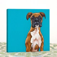 Custom pet portraiture by the Pet Shop, a tiny division of Yellow Brick Home.