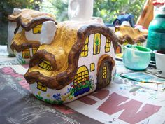 60...a colourful window box for this fairy house By @gennepher