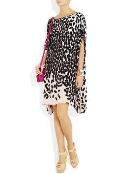 Diane von Furstenberg|Diane silk-blend crepe kaftan dress