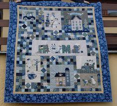 Foto Sněhuláková deka - Irmiklub.cz Quilts, Blanket, Home, Pictures, Quilt Sets, Ad Home, Blankets, Homes, Log Cabin Quilts