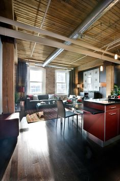 Loft Ideas! Needs to have a lot of natural lighting if darker floors
