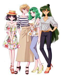 Sailor Moon Crystal ~ a happy family ❤️ Sailor Moon Girls, Sailor Moon Fan Art, Sailor Moon Character, Sailor Moon Manga, Sailor Neptune, Sailor Uranus, Cristal Sailor Moon, Sailor Moon Crystal, Manga Anime
