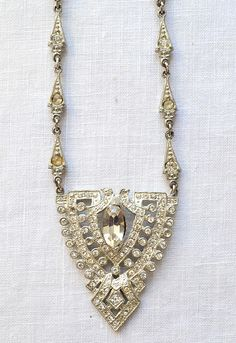 jewelry from 1920 | vinage 1920s art deco necklace with rhinestones [Egyptian Bride ...