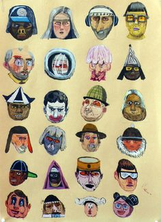 art Charlie Roberts Untitled heads 2011 1970 412