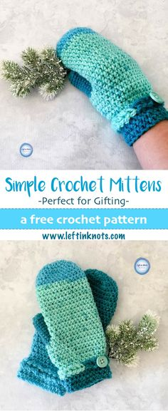 This free crochet mitten pattern takes just one skein of yarn to make! The Frozen Fingers Mittens are a fast, simple and free crochet pattern and will keep your hands warm all fall and winter. They are perfect for holiday gifts, craft sales and more. #crochet #freecrochetpattern #crochetmittens #mittens