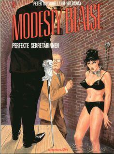 Cover for Modesty Blaise (Carlsen Comics [DE], 1988 series) Pulp Fiction Art, Pulp Art, Comic Book Covers, Comic Books, Serpieri, Frank Frazetta, Robert Mcginnis, Damsel In Distress, Comic Drawing