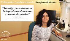 Ana Belén Hungría becada  del programa L'Oréal-Unesco For Women in Science. El objetivo de su investigación es facilitar el uso de hidrógeno como combustible más limpio y sostenible que los derivados del petróleo.#ellaspueden (cambiar el mundo)