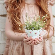 Fairy gardens in vintage teacups (gingerlillytea)