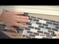 Family Dollar Store - Magic Gel Tile Kitchen Wall Makeover - YouTube ...