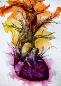 Anatomical Heart by Abby Diamond Art Et Illustration, Illustrations, Poesia Visual, Branch Art, Anatomical Heart, Anatomy Art, Heart Anatomy, Anatomy Sketches, Pen And Watercolor