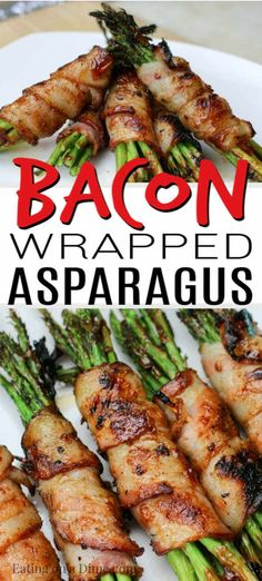 Bacon Wrapped Asparagus Recipe - Ready in minutes! - Try this Easy bacon wrapped asparagus recipe. Asparagus wrapped in bacon is easy to make and tastes -