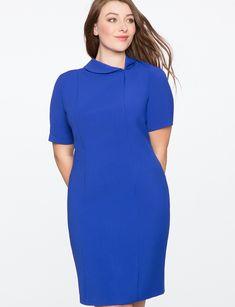 6404ec9e3ac99 Asymmetrical Collar Work Dress
