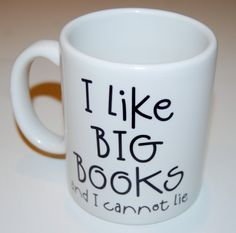 i like big books coffee mug by BookFiend on Etsy.