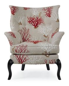 One more pin.  CR Laine, Dautry chair in Crimson Barrier fabric.