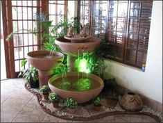 Tabletop Fountain design Ideas Do It Yourself Water Fountain Design, Tabletop Water Fountain, Diy Fountain, Waterfall Fountain, Indoor Fountain, Small Water Fountain, Small Indoor Water Fountains, Indoor Pond, Outdoor Fountains