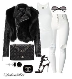 """""""Rock Out"""" by fashionkill21 ❤ liked on Polyvore featuring (+) PEOPLE, Rick Owens, Chanel, Giuseppe Zanotti, Oliver Peoples and Allurez"""