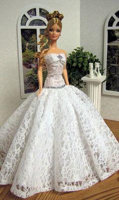 White net dress for BArbie