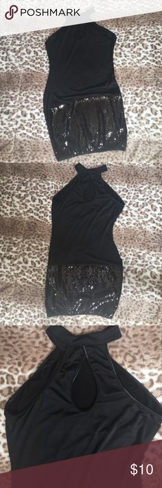 Top 100 percent polyester sassy top with sequin Tops Tank Tops