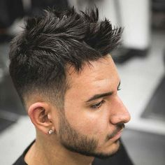 Dapper Haircut - Low Taper Fade with Messy Spikes
