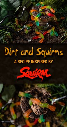 Inspired by the 1976 film Squirm and its release on Shudder, The Geeks have created a new recipe for Dirt and Squirms, a boozy take on Dirt and Worms. 2geekswhoeat.com #HorrorMovieRecipes #HorrorMovies #Horror #HorrorFood #Halloween #HalloweenRecipes #HalloweenParty #BoozyDesserts #DessertRecipes #Shudder #Squirm Easy No Bake Desserts, Easy Dinner Recipes, New Recipes, Breakfast Recipes, Easy Meals, Dessert Recipes, Amazing Recipes, Drink Recipes, Appetizer Recipes