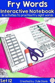 Are you looking for a fun, hands-on way for teaching sight words? Your kids will love learning & using these interactive notebooks to learn their sight words! This is the twelfth set of 10 sets of the Fry Second 100 Sight Word! Each week focuses on 10 different high frequency words. These printable worksheets are perfect for Kindergarten, first Grade, & 2nd Grade. Great for centers, word work activities, homework, & small groups. Great activity for struggling readers!