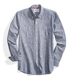 61f1362fb14 Men s Slim-Fit Long-Sleeve Chambray Shirt     To view further for this  item