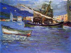 Rapallo Grauer day, Wassily Kandinsky, 1905, Post-Impressionism  oil on canvas,  24 x 33 cm. Private Collection