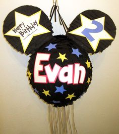 Custom Mickey Mouse Pull String Pinata by PinataMama on Etsy, $60.00