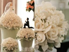 O #bolo do #casamento é uma atração à parte. Você pode unir  elegância e originalidade, seja criativo e peça ao confeiteiro para deixá-lo com a sua cara! Este aqui é divertido e  romântico ;) #noiva