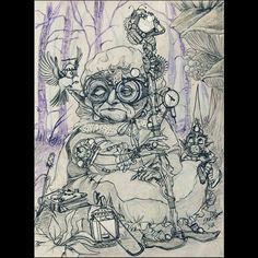 #witch #onibaba #witchcraft #wizard #steampunk #gnome #dwarf #wizardstick #magicwand #staf #minerlamp #magicforest #coffeebreak #journey #birds #oldwitch #steampunkgoggles #sorcerybook #pointyhat #sketchbook #sketch #artoftheday #camping #fantasyart #fairies #mystic #mythology #grandmother #granny #conceptart