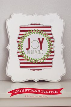 Use these Free Christmas Printables for your holiday decorating. Kiki from Kiki & Co. shows us how!!