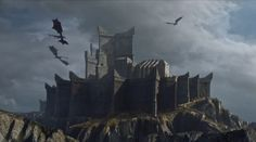 For the island see Dragonstone (island) Dragonstone is the castle that stands upon the eponymous island located in Blackwater Bay. It is the ancestral seat of House Targaryen and was the stronghold of a cadet branch of House Baratheon.
