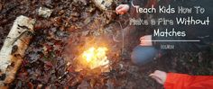 how to make a fire highlight How To Make Fire, Camping With Kids, Camping Hacks, Teaching Kids, Highlight, Outdoor Decor, Easy, Fun, Lights