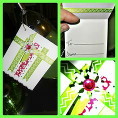 DIY Gift Tag from Christmas Series craftynightowls.blogspot.com #American_craft #Christmas_tags #30_days_of_christmas #scrapbook_steals #gift_tag