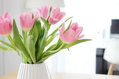 Bouquet de tulipe roses