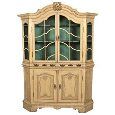 Large 18th Century Danish Vitrine Breakfront | From a unique collection of antique and modern vitrines at https://www.1stdibs.com/furniture/storage-case-pieces/vitrines/