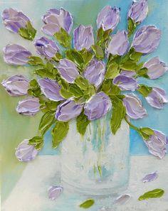 Tulip Oil Painting Impasto Painting Custom Tulip by KenziesCottage