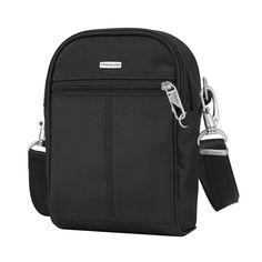 Travelon Black Anti Theft Classic Tour Crossbody Bag