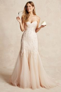 Bliss Monique Lhuillier - Sweetheart Mermaid Gown in Lace