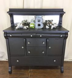 Buffet In Dark Chocolate Milk Paint Grey Painted Furnitureden